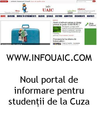 Noul portal de informare pentru studentii de la Cuza