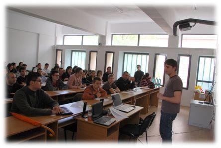 Prezentare susținută de studentul Alin Alexandru în cadrul unui eveniment MSP organizat în facultate