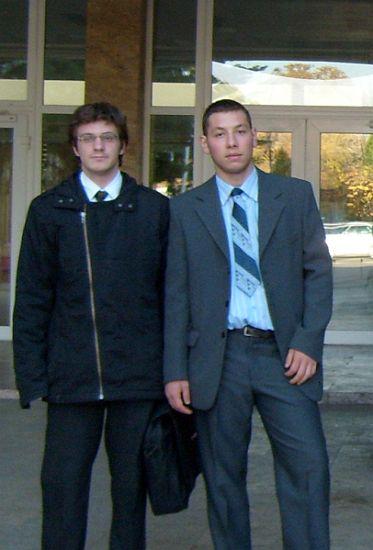 Vlad Manea și Sergiu Hriscu, studenți la Facultatea de Informatică din Iași