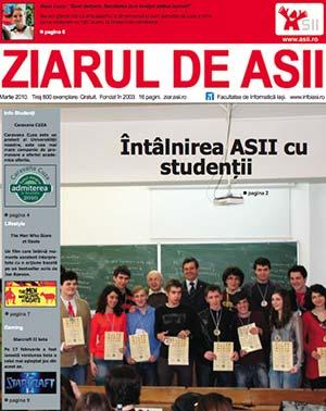 Ziarul de ASII, martie 2010 (coperta)