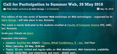 Summer Web 2010