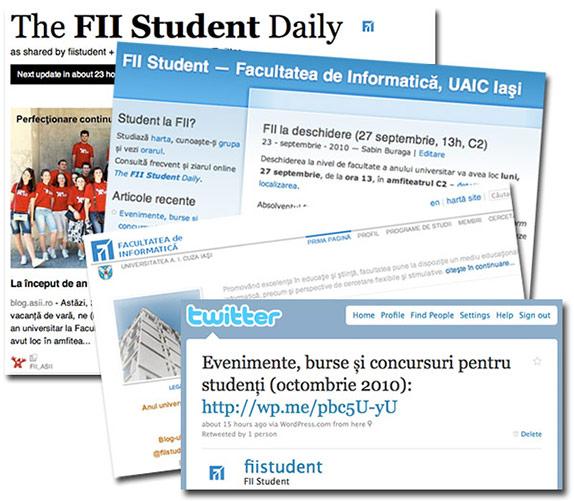 Posibilități de informare la FII