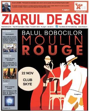 Coperta Ziarului de ASII, noiembrie 2010