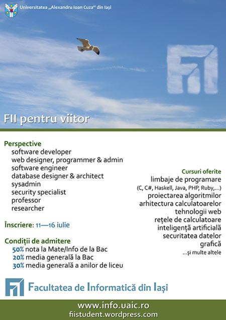 FII pentru viitor la Facultatea de Informatică, UAIC Iași