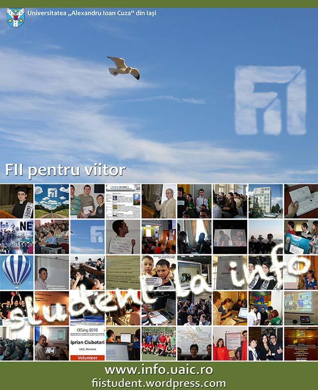 Student la Info – admiterea 2011 la FII