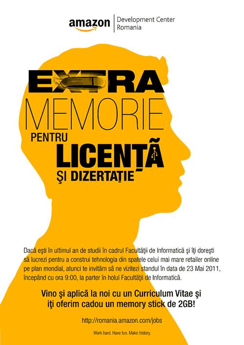 Extra-memorie pentru licență/dizertație oferită de Amazon Romania (23 mai 2011)