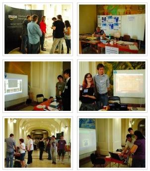 Standuri de companii și soluții de design în Sala Pașilor Pierduți, UAIC