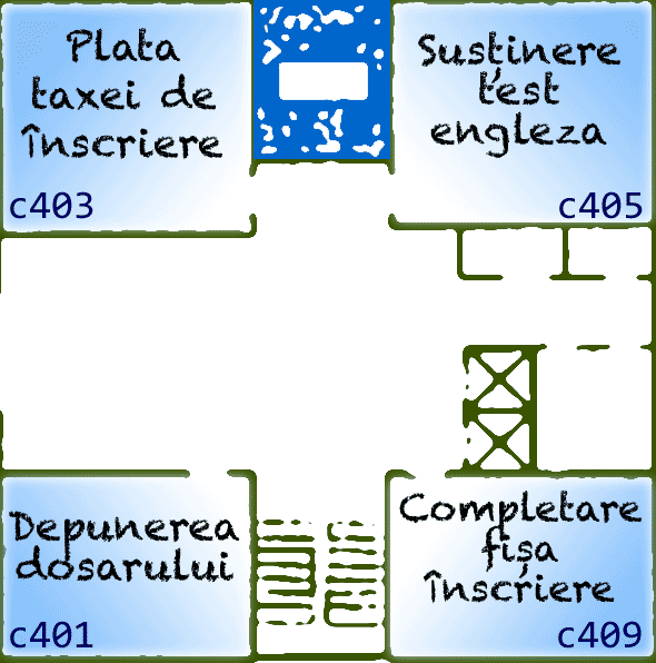 Admitere 2011 la FII: sălile de la etajul 2