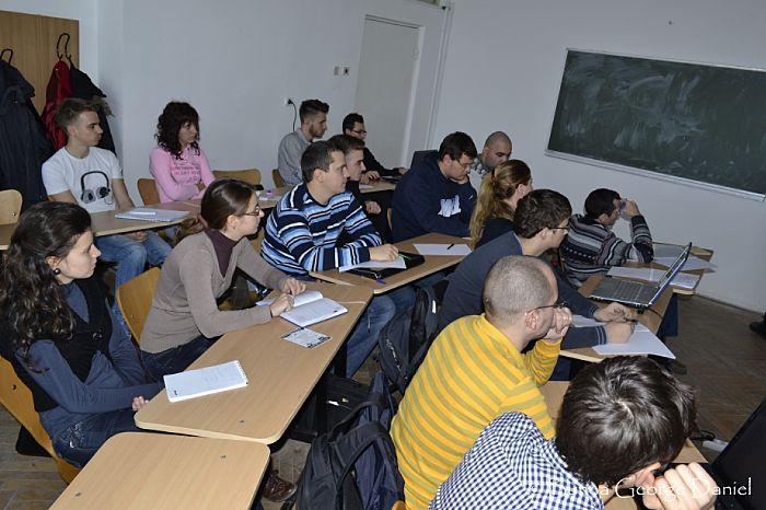 O parte dintre studenții participanți (fotografie de Daniel George Bunea)